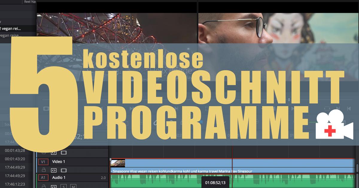 5 kostenlose Videoschnitt Programme | Video-Hilfe | Sebastian Fischer