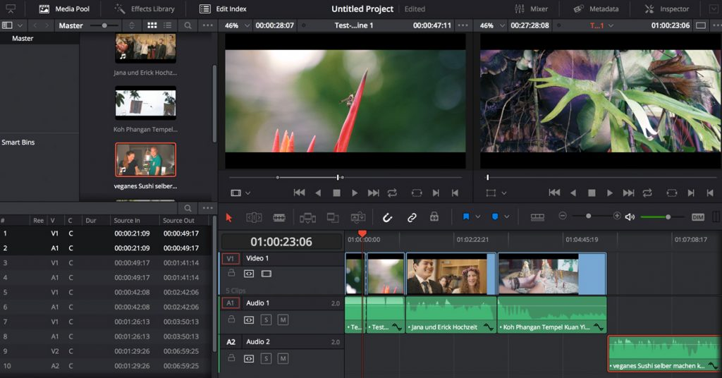 DaVinci Resolve Screenshot - für Mac und Windows | VIDEO-HILFE Sebastian Fischer
