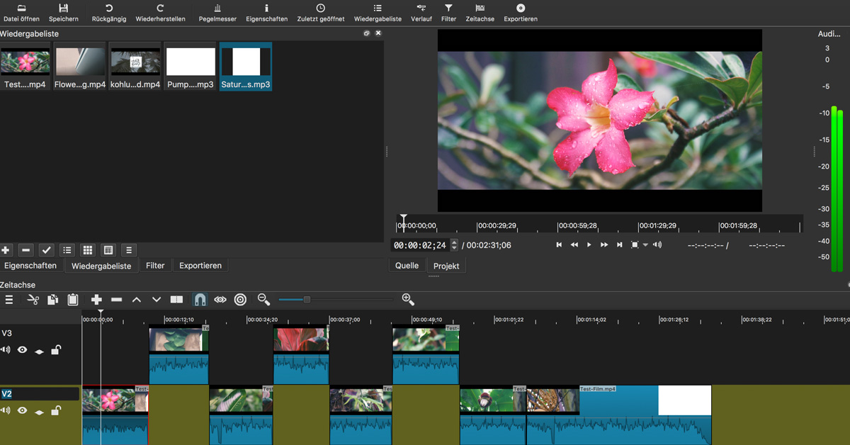 Shotcut Mac Apple Windows Screenshot kostenlose Videoschnitt Programme Video-Hilfe Sebastian Fischer